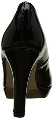 s.Oliver Damen 22410 Pumps Schwarz (BLACK PATENT 18)