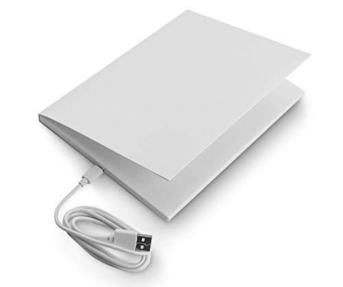 SoundGreets Audio Grußkarte inkl. USB Kabel - Sound Datei (Mp3) bis 4 Min. Länge vom PC per USB aufspielen, Aufladbarer Akku, Top Lautsprecher, Blanko neutral ohne Text mit Musik selbst gestalten