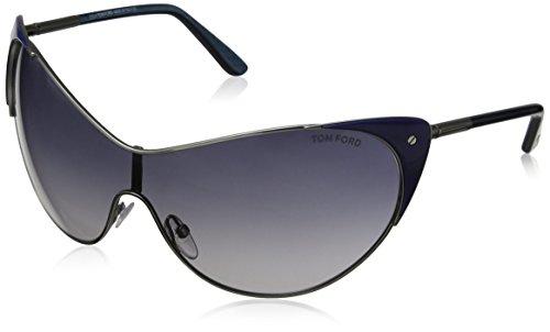 Tom Ford Sonnenbrille FT-VANDA 0364S-89W (130 mm) silberfarben/blau