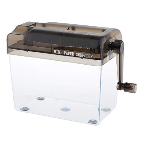 dailymall Manuelles Aktenvernichter A4 tragbare Mini Papierhand Cut Shredder Papierdokumente Schneidwerkzeug - Schwarz