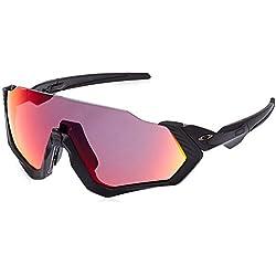 Oakley Flight Jacket Gafas de sol, Rectangulares, 1, Negro
