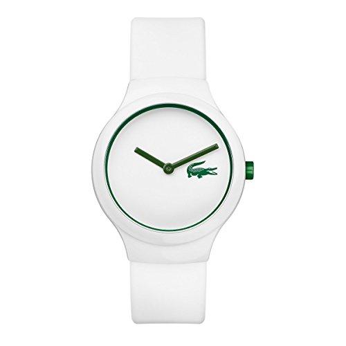 Lacoste–2020103–Goa–Unisex Quartz Analogue Watch–White Dial–White Strap