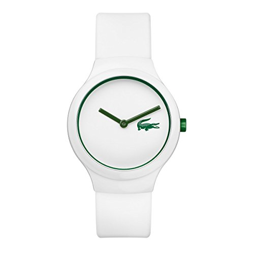 Lacoste–2020103–Goa–Unisex–Reloj analógico cuarzo esfera de color blanco–Pulsera