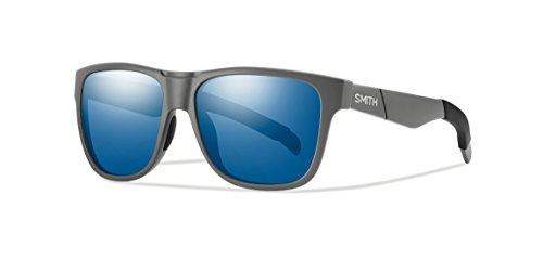 Smith Erwachsene Sportbrille Lowdown Sonnenbrille, Grau (Matte Solid Blue Grey Speckled), 56