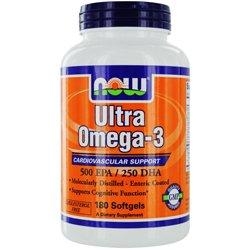 NOW Foods - Ultra Omega-3 500 DHA EPA/250 - 180 Cápsulas blandas