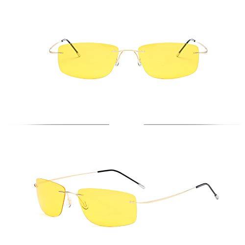 MIXUE Polarisierte Sonnenbrille, Nicht verschreibungspflichtige, getönte Lesebrille aus leichtgewichtigen, patentierten, randlosen Herren/Frauen mit starker Biegbarkeit,No6