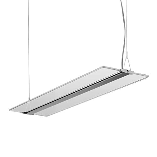 Baldachin Höhenverstellbare Leuchte (KJLARS LED Pendelleuchte Hoehenverstellbar 48W Dimmbar Hängeleuchte Pendellampe für Büro LED Panel Hängelampe, für esstisch Büroleuchte Schlafzimmerleuchte Wohnzimmerlampe)