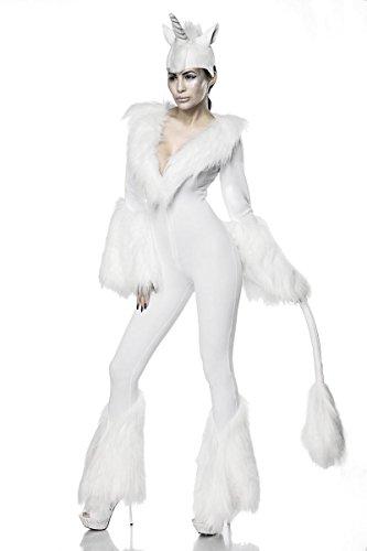 fasching kostueme damen maerchen Sexy White Unicorn Kostüm Letztes Einhorn Einhornkostüm Overall Märchen Karneval Fasching Damen Legende Sage L