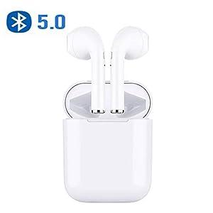 AIJEESI Auricolari Bluetooth V5.0 con Riproduzione di 10 Ore,Microfono Audio Stereo HD,Design Separato da biauricolare… 3 spesavip