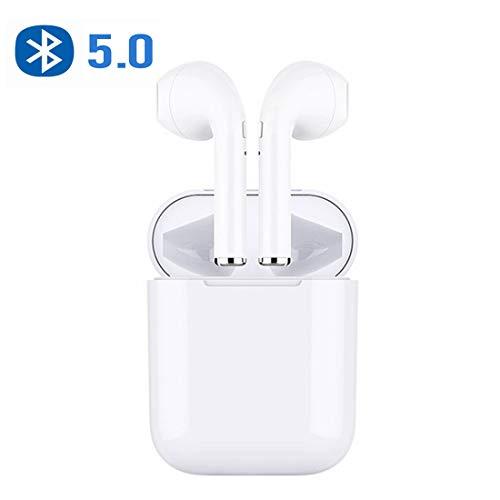 AIJEESI Auricolari Bluetooth V5.0 con Riproduzione di 10 Ore,Microfono Audio Stereo HD,Design Separato da biauricolare,Cuffie Bluetooth Senza Fili per Samsung iPhone iPad Huawei Xiaomi