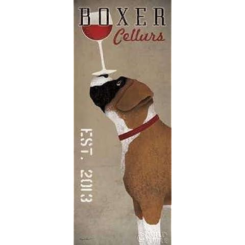 Cantine del Boxer Fowler, Ryan-Stampa su tela in carta e decorazioni disponibili, Carta, SMALL (8 x 20 Inches