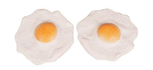 2er Set Spiegelei aus Kunststoff - 16556, Osterei, Eier Dekoattrappe, Lebensmittelnachbildung Ei, Fake Food, künstliche Lebensmittel, Theater Requisite, Bühnendeko, Foodstyling, Gastronomiebedarf