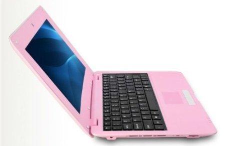 Jcw® Netbook - Ordinateur portable ultraléger - Google Android 5.0 Lollipop- Wifi - Ethernet - Webcam - 4 GO DD 512 Ram - Ecran 10.1 pouces - Rose