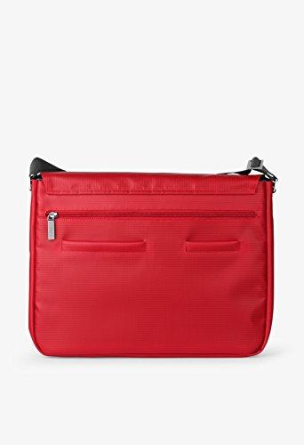 BREE Punch 49 | Umhängetasche | LKW-Planen Messenger Bag | blue red