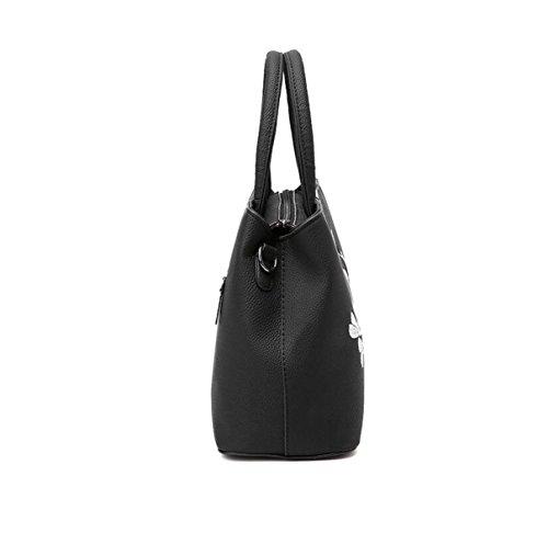 Süße Damen Mode Handtaschen Messenger Bag Schultertasche Handtasche Einfach Wild Grey