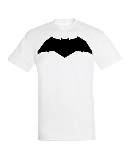 TRVPPY Herren T-Shirt New Batman in verschiedenen Farben, Gr. S-5XL Weiß