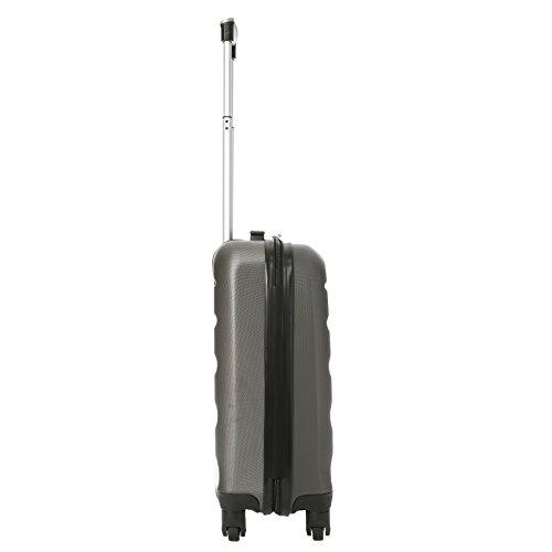 Aerolite Leichtgewicht ABS Hartschale 4 Rollen Handgepäck Trolley Koffer Bordgepäck Kabinentrolley Reisekoffer Gepäck, Genehmigt für Ryanair, easyJet, Lufthansa, Jet2 und viele mehr, Kohlegrau - 3