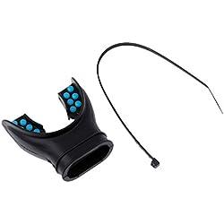 MagiDeal Embout Bucal Détendeur à Deuxième Étage Non Composée En Silicone Avec Onglet Plongee Sous-marine - Bleu Noir, 5,5 x 5 cm