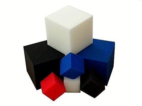 Foam Pits Blocks/Cubes 20 pcs. 5 x5 x5 White (1536) Flame Retardant Pit Foam Blocks For Skateboard Parks, Gymnastics Companies, and Trampoline Arenas