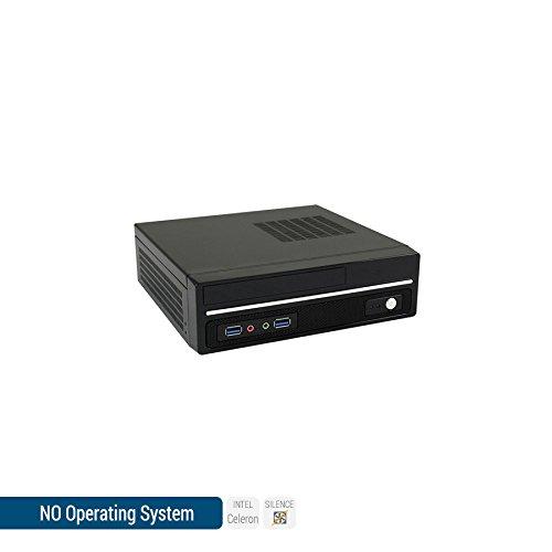 Sedatech Mini-PC Bureautique, refroidissement passif, Intel J3455 Quad Core, 4Go RAM DDR3 1600Mhz, 1To HDD, DVD-RW, USB 3.0, HDMI2.0, Résolution 4K. Unité centrale sans OS