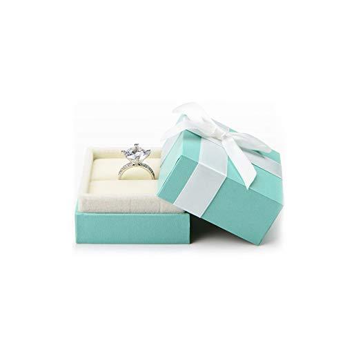 Türkise Samt Ring Box Bow-Knot Hochzeit Schmuck Verpackung Geschenk Box Showcase Valentinstag Hochzeitstag Jahrestag
