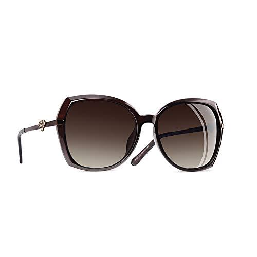 AOFLY Strass-Sonnenbrille für Damen Polarisierte Mit UV400 Schutz Gradientenlinse für Fahrende