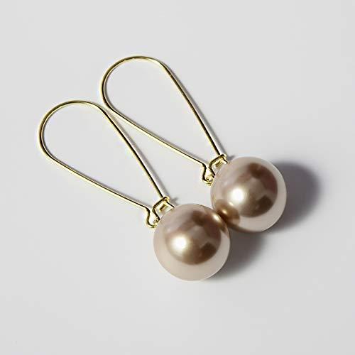925 Sterling Silber große Perle Ohrringe weibliche hypoallergene handgemachte einfache Stern mit den Ohrringen zeigen Temperament Port Wind I