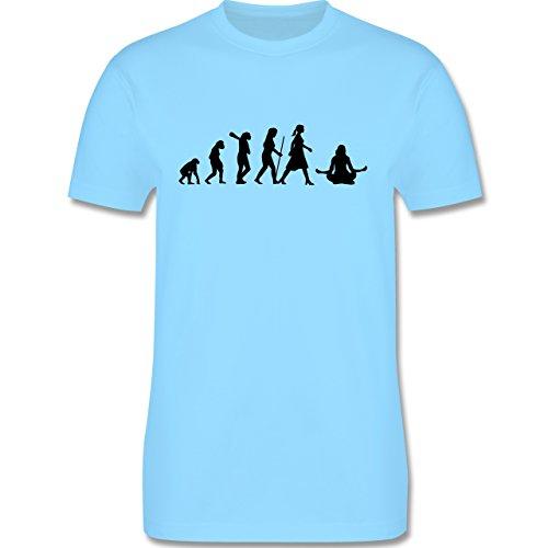 Evolution - Meditation Evolution - Herren Premium T-Shirt Hellblau
