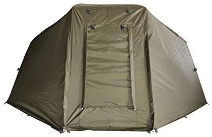 Carpline24 Skin für Angelzelt Economic I 1-Mann-Brolly Zelt-Überwurf I Leichter Aufbau I Camping Kuppel-Zelt f. 1 Person I Karpfenzelt wasserdicht gem. 10.000mm Wassersäule I 255x240x130cm10kg