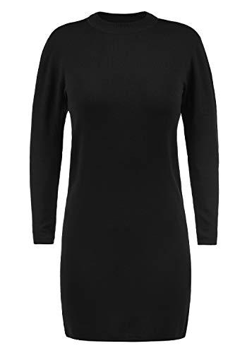 ONLY Kelly Damen Strickkleid Feinstrickkleid Mit Turtle-Neck Kragen, Größe:L, Farbe:Black