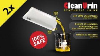 2x CLEANURIN synthetischer Urin - 25ml