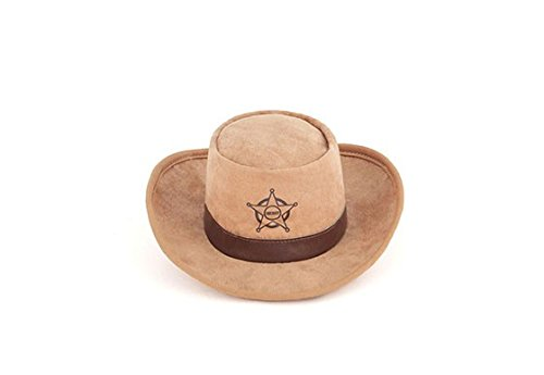 P.L.A.Y. Pet Lifestyle and You - PLÜSCH SPIELZEUG FÜR HUNDE - Hut Cowboy/Sheriff