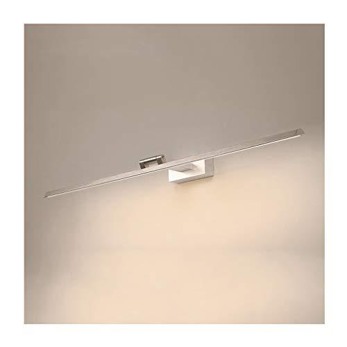 *badezimmerlampe Badezimmerspiegelleuchte, moderne minimalistische Make-Up-Lampe wasserdicht verstellbare Spiegelleuchte im weißen Stil [Energieklasse A ++] (Farbe : Weißes Licht-100cm/20w)