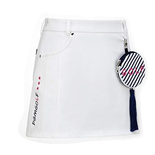 JTIH®Golfkleidung Damen Sportswear Golfröcke Gefütterte Sicherheitshose, Blumenrock, Sommerkleid, weißer Sportrock (M)