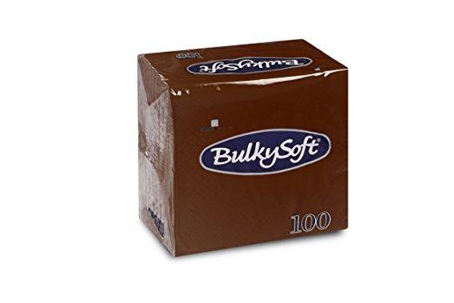Bulky Soft BS-32660 Servietten 1/4 Falz, 2-lagig, 24 cm x 24 cm, Braun (100-er Pack)