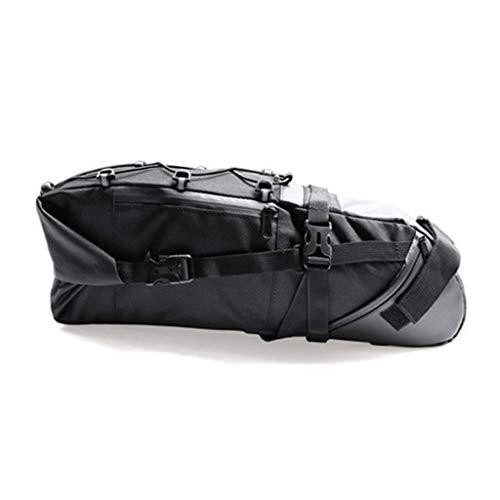 HWB Sattel Tasche,Wasserdichte Large10-Ltr-Fahrradverpackung Stil Sitz Packtasche Satteltasche Tail Bag Light Zubehör