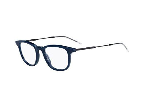 Dior homme occhiali men's blacktie208 g72% 2fplastic cornice in metallo, colore: blu