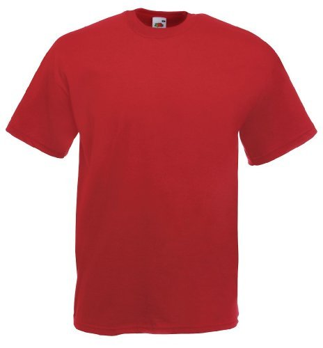 Fruit of the Loom - Classic T-Shirt 'Value Weight' XL,Brick Red (Xl-brick)