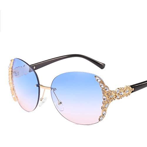 ROirEMJ Sonnenbrille, Frauen Uv-Schutz 400 Brillen, Mode Strass Dekoration Frame Sonnenbrille, Weibliche Persönlichkeit Vintage Fahren Auge Glas Für Damen Trend