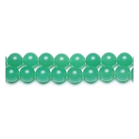 Fil De 62+ Vert Jade Malaisien 6mm Perles Rond - (GS9952-2) - Charming Beads