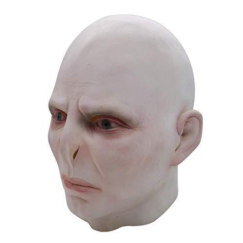 Halloween Voldemort Kostüm - GUOJIUXIAO Halloween Maske, Voldemort Latex Maske Kopfschmuck Cosplay Maskerade Lustige Kopfbedeckung