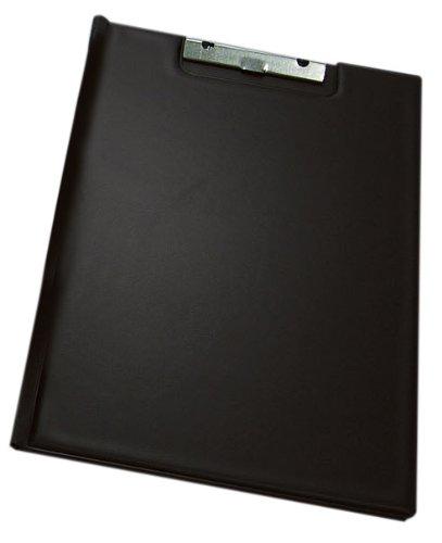 Wedo 57228101 Klemmbrettmappe (A4, mit Zwischenfolie Einstecktasche links und Einstecktasche für Stifte) schwarz Schwarz Klemmbrett Mit Stift