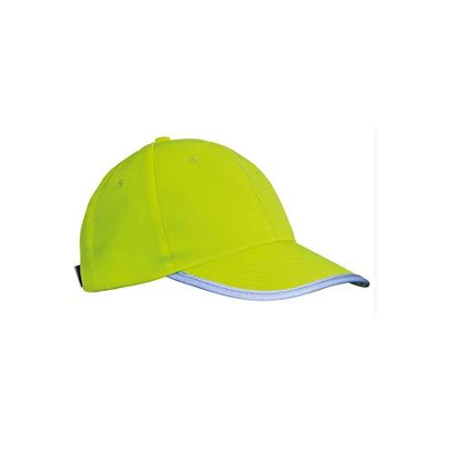 Unbekannt Kinder Baseball Cap - Signalfarbe für Sicherheit - neonfarben und reflektierend - Einheitsgröße - stufenlos verstellbar