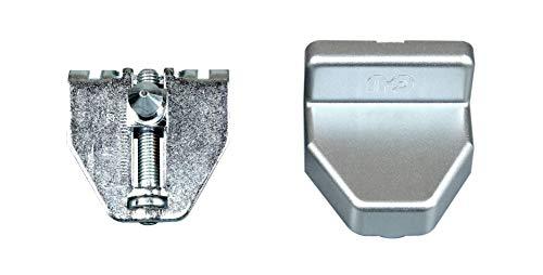 GU Oberlicht Fenster Winkelflügelstütze Ventus F200 mit Abdeckung Silber EV1 K-15225-00-0-1 (GU 9-33343)