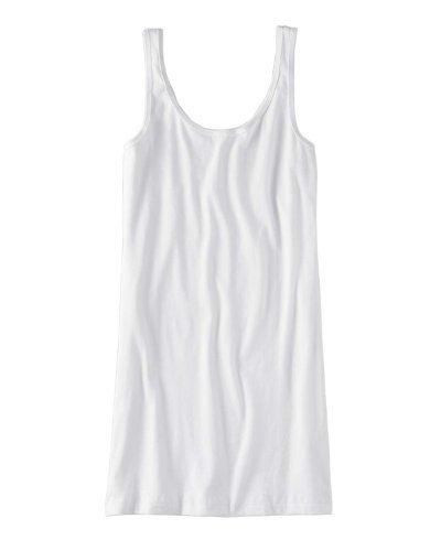Jersey Tank Top Dress Bella Canvas Kleid Sommerkleid Freizeitkleid Shirtkleid Weiß
