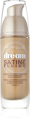 Maybelline Dream Satine Fluido Base de Maquillaje, Tono: 21 Nude