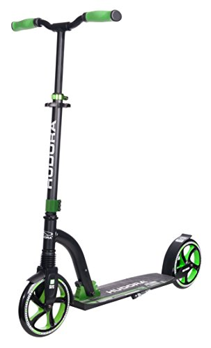 HUDORA Big Wheel Scooter Flex 200, Tret-Roller Stoßdämpfung - City-Scooter, grün, 14248