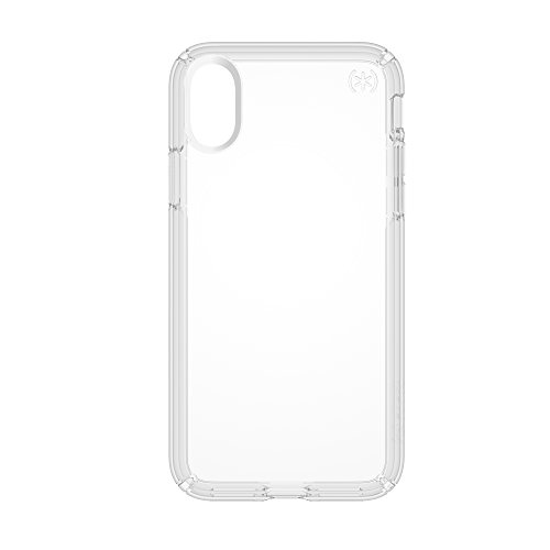 Speck Presidio Grip Custodia per iPhone X, Nero Trasparente