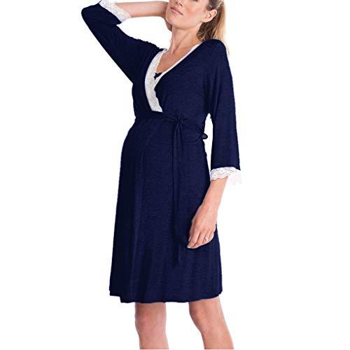 Wiivilik Mujeres Vestido de Maternidad Madre lactante camisón Ropa de Noche de la Lactancia Materna
