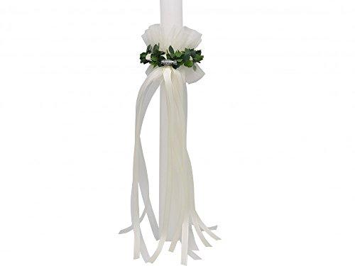 SET: Tropfschutz und Kerzenring Kommunion Creme Taufe Kerzenrock Kerzenkleid